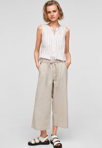 QS by s.Oliver - Trousers - beige - 1