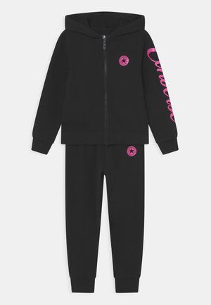 FULL ZIP METALLIC SET - Dres - black