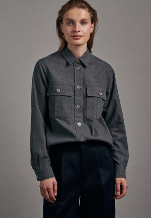 REGULAR FIT - Button-down blouse - schwarz