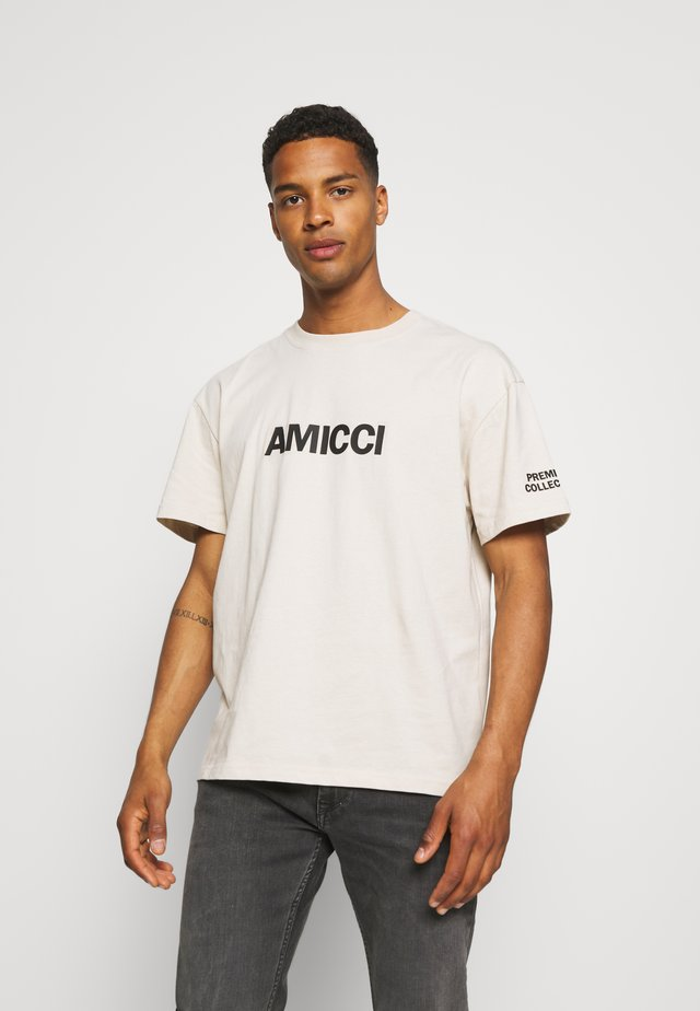 PREMIUM TEE UNISEX  - T-shirt print - stone