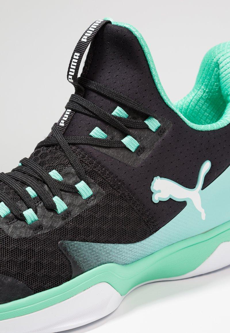 arquitecto lista Indica  Puma RISE XT 3 - Zapatillas de balonmano - black/biscay green/white -  Zalando.es