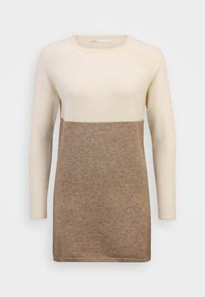 ONLLILLO DRESS PETIT - Jumper dress - whitecap gray/beige