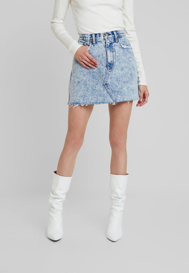 MINI SKIRT - A-line skirt - blue