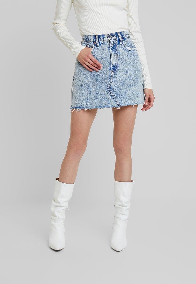 Abercrombie & Fitch - MINI SKIRT - A-line skirt - blue