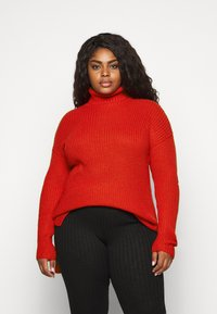 CAPSULE by Simply Be - ROLL NECK - Jumper - red - 0