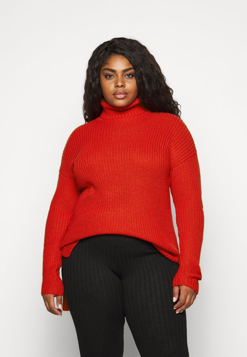 CAPSULE by Simply Be - ROLL NECK - Jumper - red