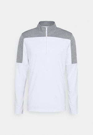 ZIP LIGHTWEIGHT - Long sleeved top - white