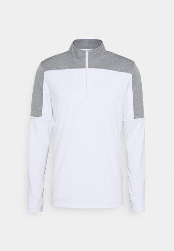 ZIP LIGHTWEIGHT - Long sleeved top - white