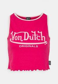 Von Dutch - ASHLEY RACER CROPPED - Linne - dark pink - 4
