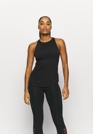 YOGA TANK - Sports shirt - black