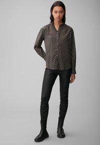 Marc O'Polo - VOILE - Button-down blouse - black, black - 1