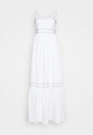 ABITO LUNGO IN POPELINE - Maxi dress - bianco ottico