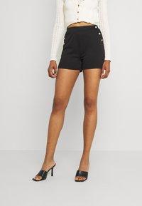 Vila - VITINNY BUTTON - Shorts - black - 0