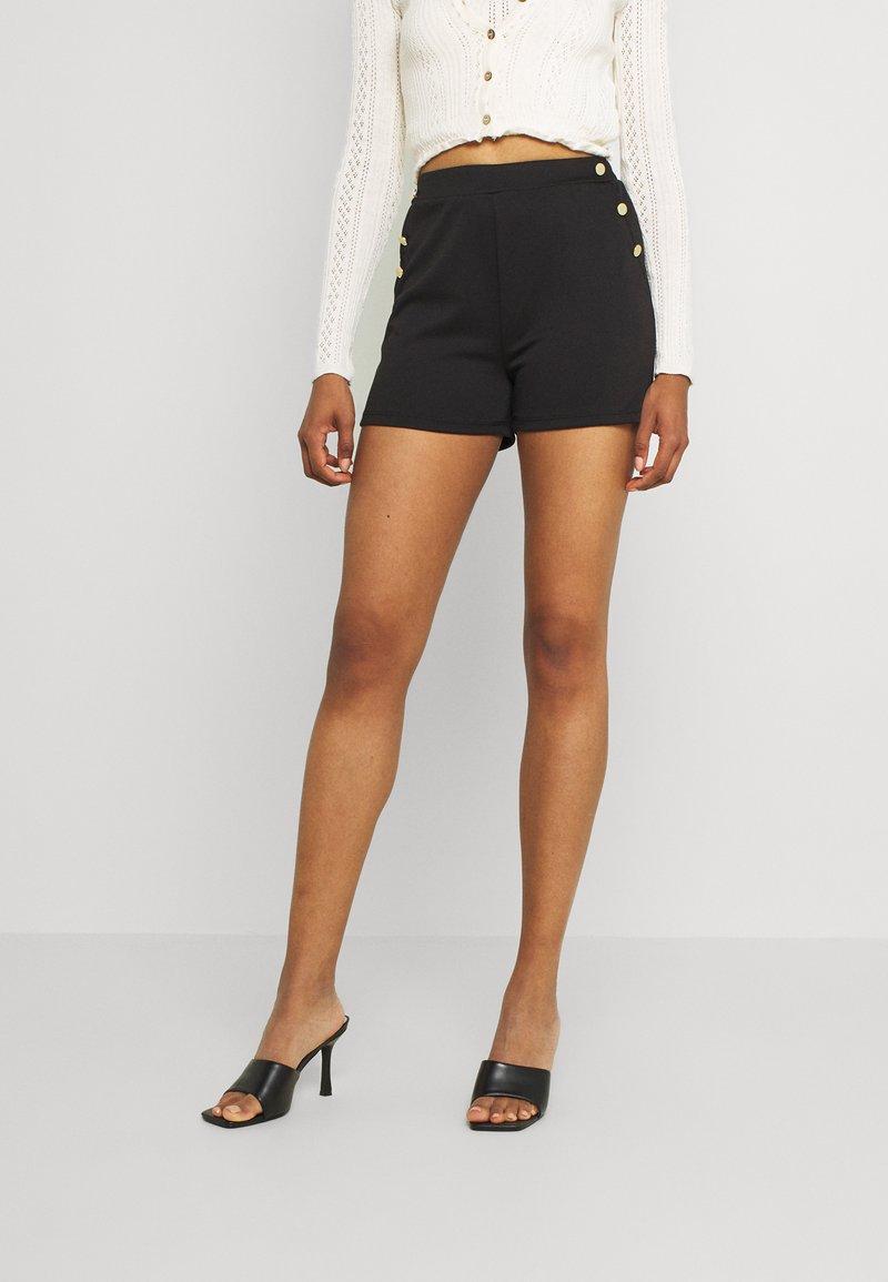 Vila - VITINNY BUTTON - Shorts - black