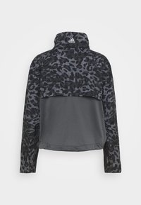 adidas Performance - FAST 1/2 ZIP - Sports jacket - grey four/black - 9
