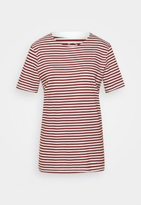 Selected Femme - SLFMY PERFECT TEE BOX CUT - Print T-shirt - red - 5