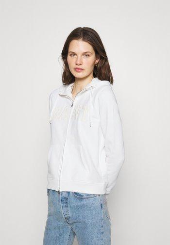 ARCH LOGO ZIP HOODIE - Zip-up sweatshirt - eggshell