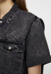 PULL&BEAR - Button-down blouse - dark grey - 5