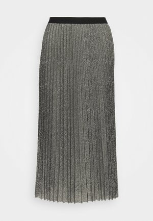 WILIA SKIRT - Pleated skirt - silber/grau