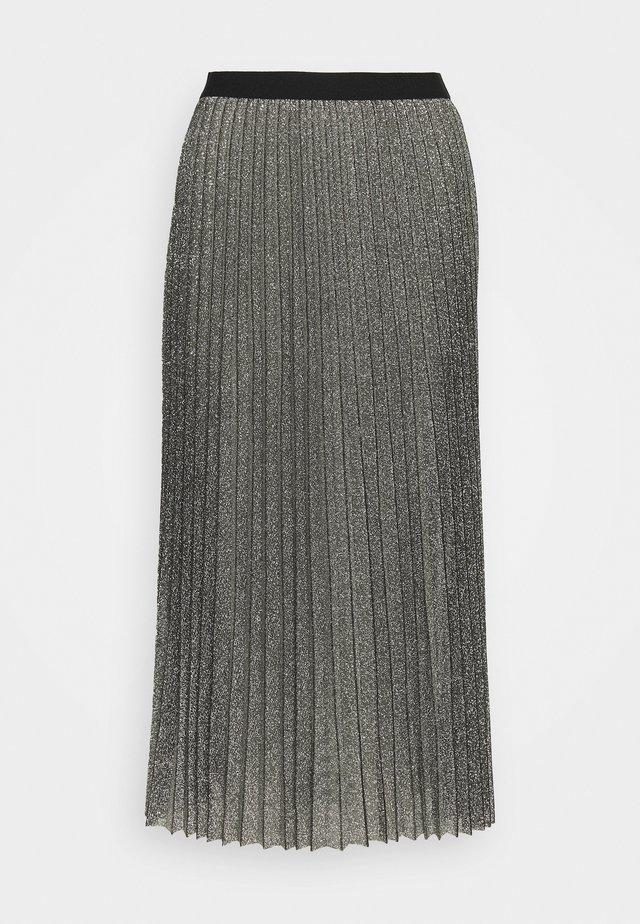 WILIA SKIRT - Pleated skirt - silber/grau