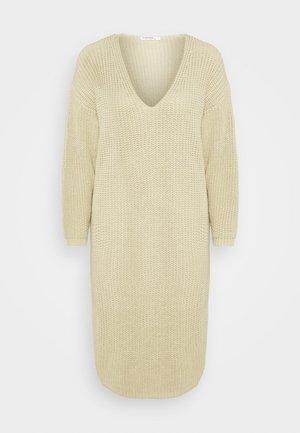 NECK DRESS - Jumper dress - pebblestone