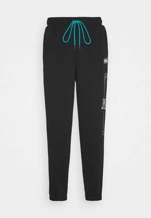 FRANCHISE - Tracksuit bottoms - black