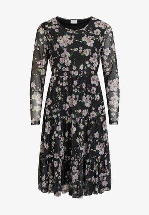 Day dress - black/purple flowers