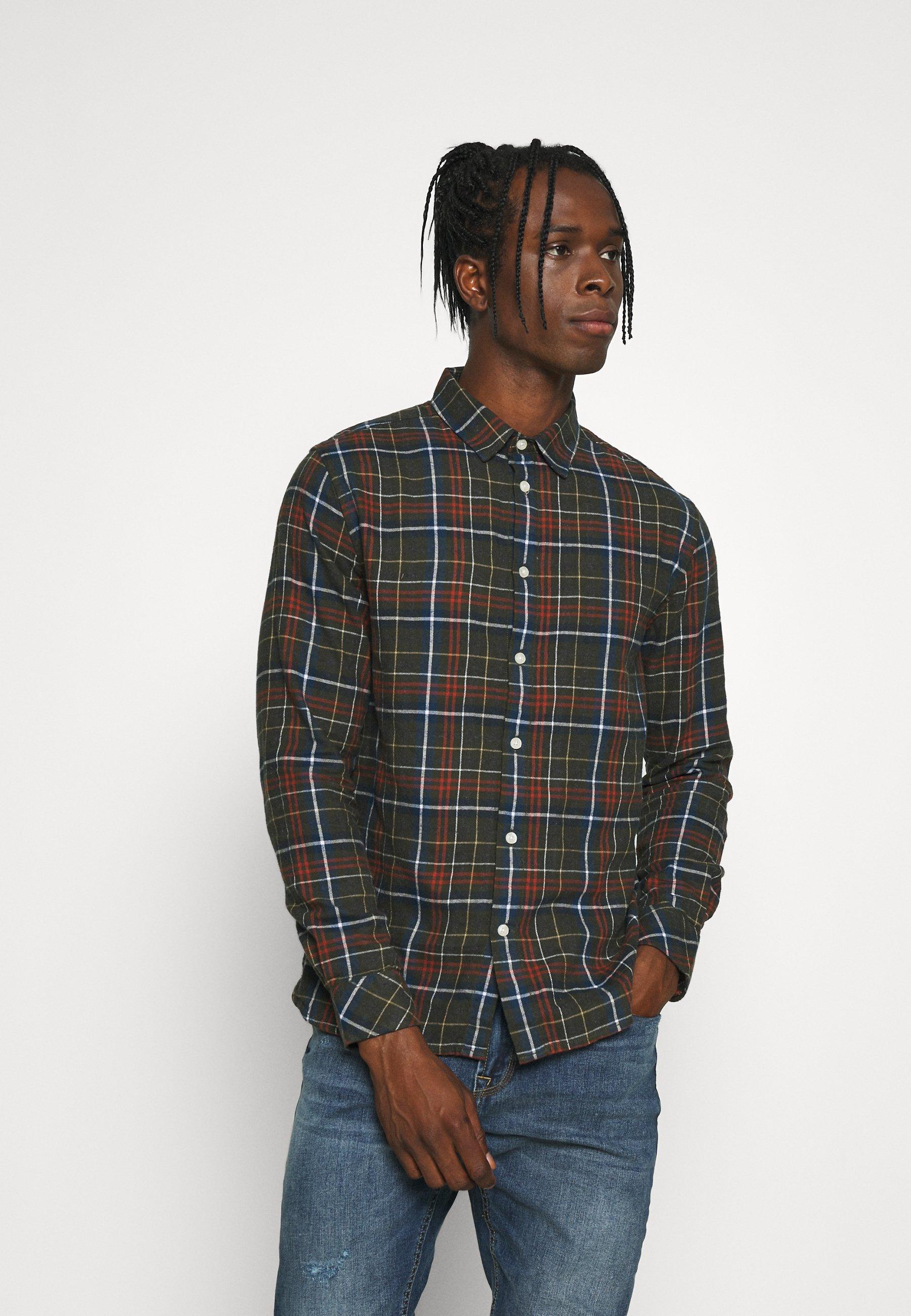 Men LARCH REGULAR FIT SMALL CHECKED SHIRT - Shirt