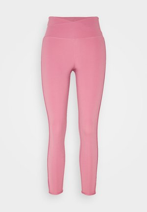 YOGA CORE CUTOUT 7/8 - Tights - desert berry/light arctic pink