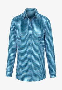 PETER HAHN - Button-down blouse - blau/ weiß - 1
