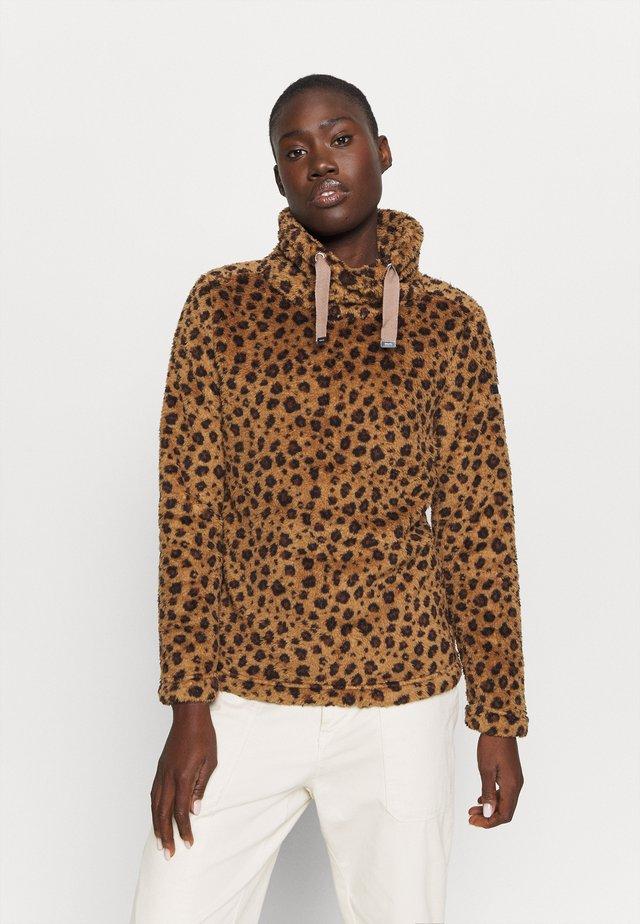 HANNELORE - Fleece jumper - brown
