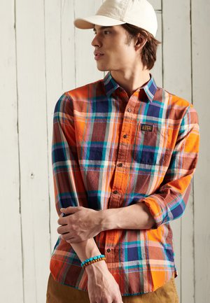 WORKWEAR LITE - Shirt - lister orange check