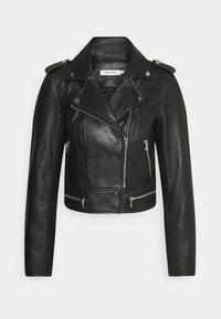 NAF NAF - CEPHEE - Veste en cuir - noir - 0