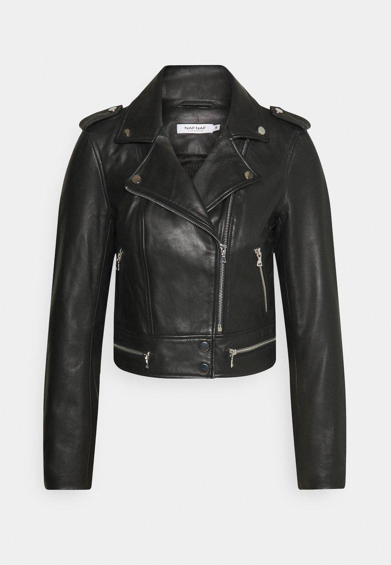 NAF NAF - CEPHEE - Veste en cuir - noir