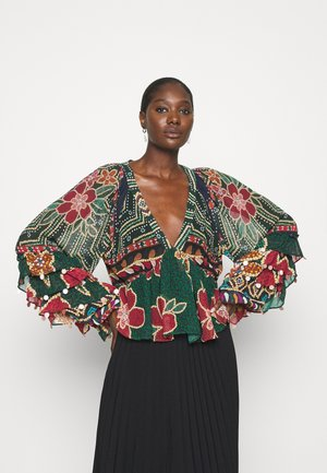 FLORAL SHINE BLOUSE - Blůza - multi