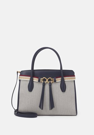 TOUJOURS STRIPE LARGE SATCHEL - Handbag - blazer blue