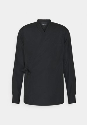 KIMONO STYLE TRAPUNTO STITCH - Camicia - black