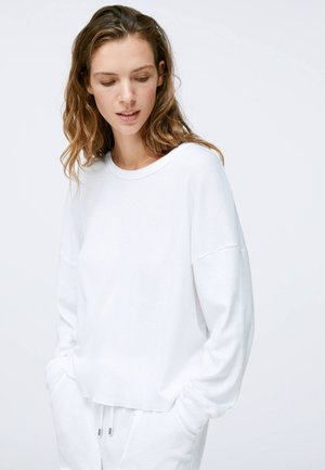 GREEN COTTON - Pyjama top - white