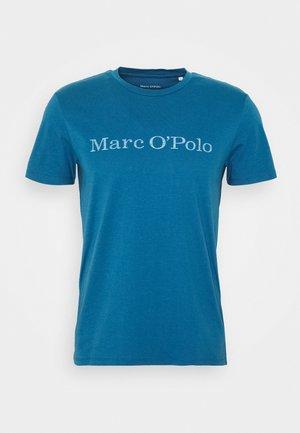 SHORT SLEEVE CREW NECK - Print T-shirt - dark blue