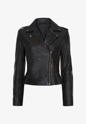 PETRA - Leather jacket - black