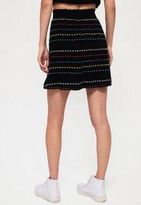 Superdry - GESMOKTER  - A-line skirt - black - 2