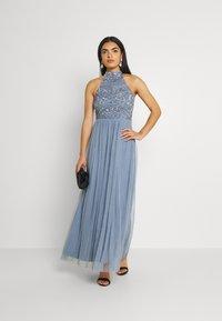 Lace & Beads - SEREN MAXI - Maxikjole - dusty blue - 1