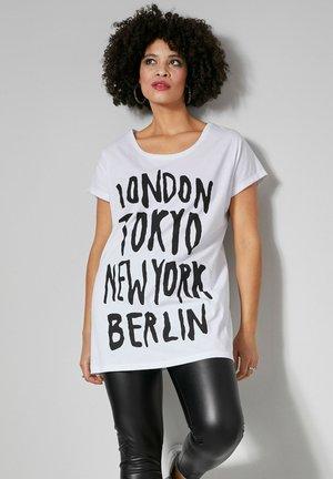 Print T-shirt - weiß,schwarz