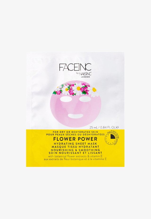 FACE INC FLOWER POWER SHEET MASK HYDRATING 25ML - Face mask - 9120 neutral