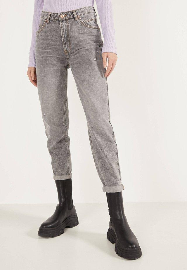 MOM - Jeans Straight Leg - metallic grey