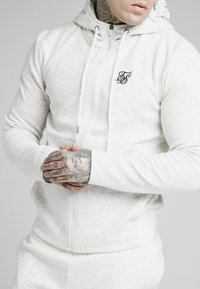 SIKSILK - AGILITY TEXTURED ZIP THROUGH HOODIE - Cardigan - snow marl - 4