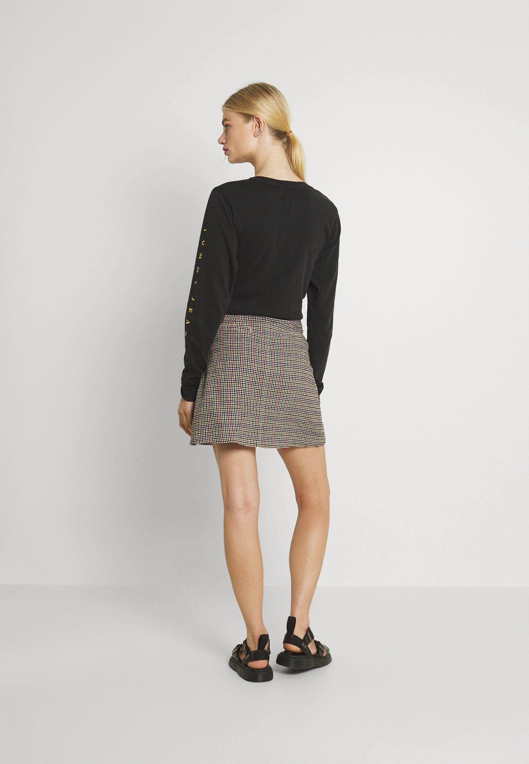 Mujer CHECK ZIP SKIRT - Minifalda