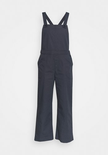 STAND UP CROPPED OVERALLS - Bukse - smolder blue