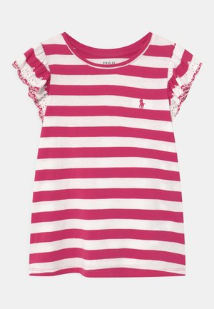 T-shirt print - accent pink/white