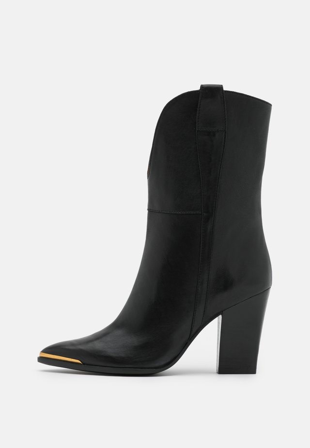 High heeled ankle boots - firenze nero